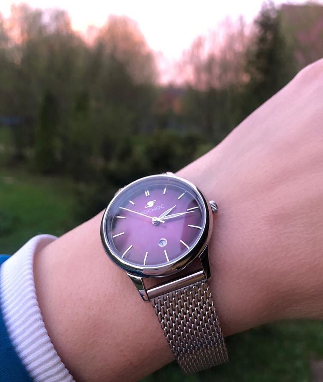 Quartz watch Cosmos collection Constellation in a 33 mm stainless steel case